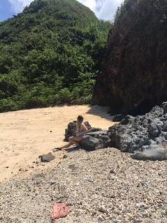 Playa desierta en Kuta, Lombock