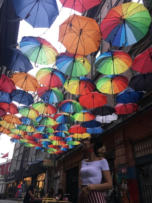Karakoy umbrella street